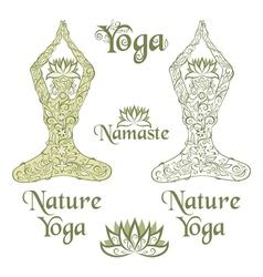 Nature Yoga elements vector image