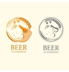 Octoberfest logos vector