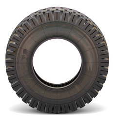 Old Truck Tire vector image