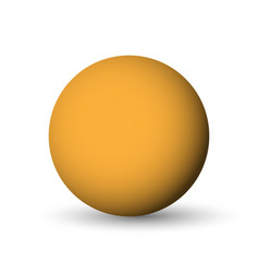 orange sphere ball or orb 3d object with vector image