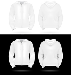 Plain training hooded jackets template vector