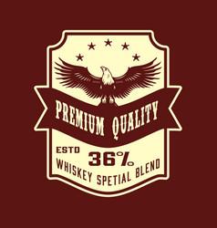 Premium quality whisky vintage label vector