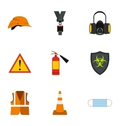 Repairs icons set flat style vector image