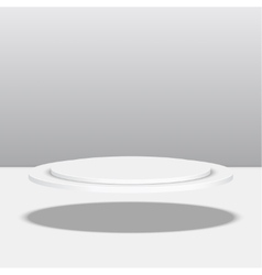 Round pedestal for display vector image