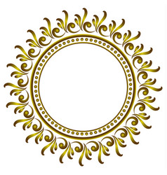 Royal decorative round frame vector