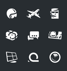 set fly dispetcher icons vector image