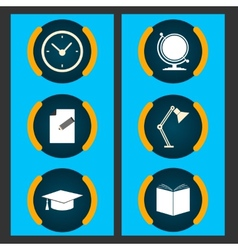 Six items related to education vector image