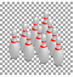 skittles for bowling isometric vector image
