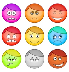 smilies round set vector image