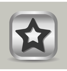 Star shape Line icon vector