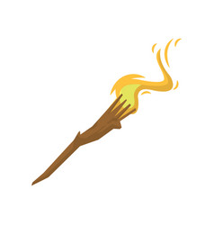 stick with burning fire vector image