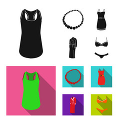 T shirt beads summer women sarafan on straps vector