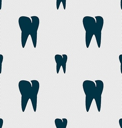 tooth icon Seamless abstract background with vector image