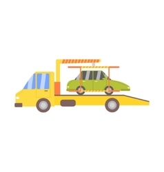 Truck Evacuating Green Car vector image