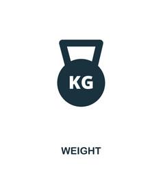 weight icon premium style icon design ui vector image
