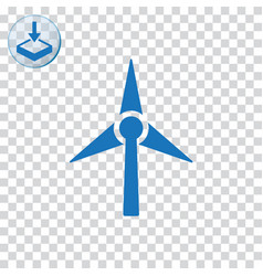 Wind turbine icon for web and mobile vector