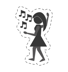 Woman dancing icon design vector