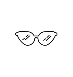 woman glasses icon vector image