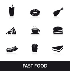 fast food eps10 vector image vector image