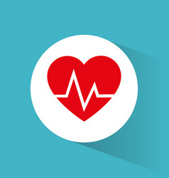 heartbeart care healthy symbol vector image
