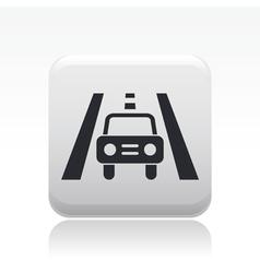 road car icon vector image vector image