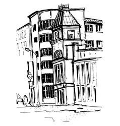 sketch of city buildings vector image vector image