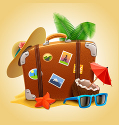 travel suitcase vector image