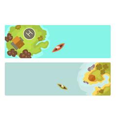 cartoon tropical brochure exotic island in ocean vector image vector image