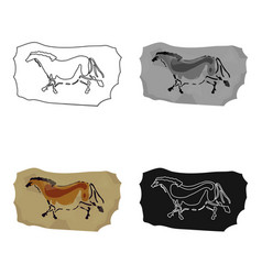 cave painting icon in cartoon style isolated on vector image
