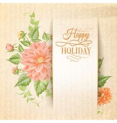 Chrysanthemum holiday card vector