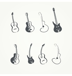 Collection of guitars vector image