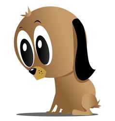 cute dog vector image