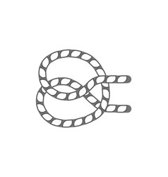 figure rope knot isolated icon vector image