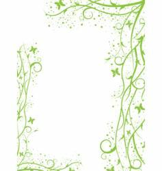 green border vector image vector image