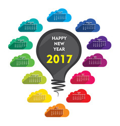 new year 2017 calendar design vector image