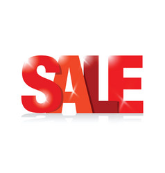 Red sales sign vector