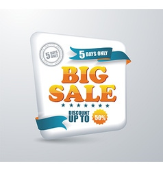 Sale banner Shopping vector image vector image