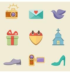 Wedding color vector image vector image