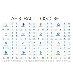 abstract logo set for business company corporate vector image