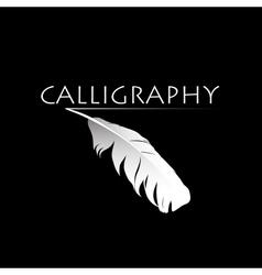 Calligraphic pen vector image vector image