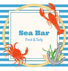 crab and lobster vector image