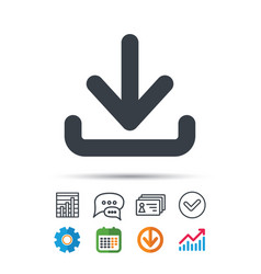 download icon load internet data sign vector image