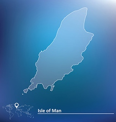 Map of Isle of Man vector image vector image