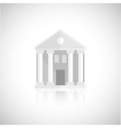 Museum building icon vector image