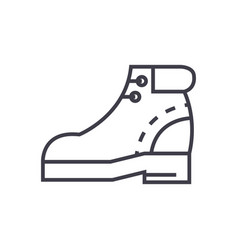 boots sign line icon sign on vector image vector image