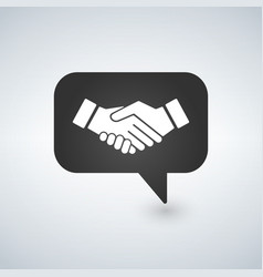 businessman meeting bubble handshake simple vector image