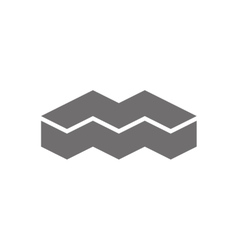 Letter M Logo Concept Icon vector image