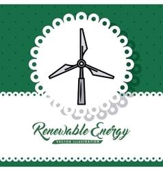 renewable energy design vector image vector image