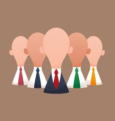 super business team-team of super businessmen vector image