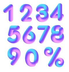 3d numerals vector